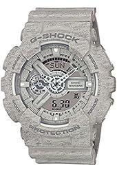 Casio G-Shock Heathered Grey Dial Resin Quartz Men's Watch GA110HT-8A