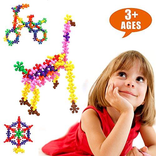 LIGHTDESIRE Plum Blossom Building Blocks Puzzle Toys [120pcs] Shape Interlocking Souptoys Toy (Valentine Day Gift Ideas For Kindergarteners)
