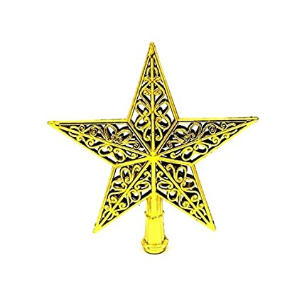 yellow christmas tree top star christmas decorations toppers ornaments - Yellow Christmas Decorations