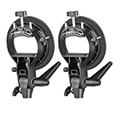 Neewer® 2 Pieces S-Type Bracket Holder with Bowens Mount for Speedlite Flash Snoot Softbox Beauty Dish Reflector Umbrella