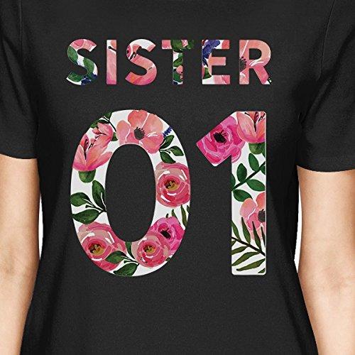 Black 01 manga Camiseta Size 365 para Sister de Printing corta One mujer vPtnqwfAZx