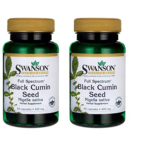 Swanson Full Spectrum Black Cumin Seed 400 Milligrams 60 Capsules 2 Pack ()