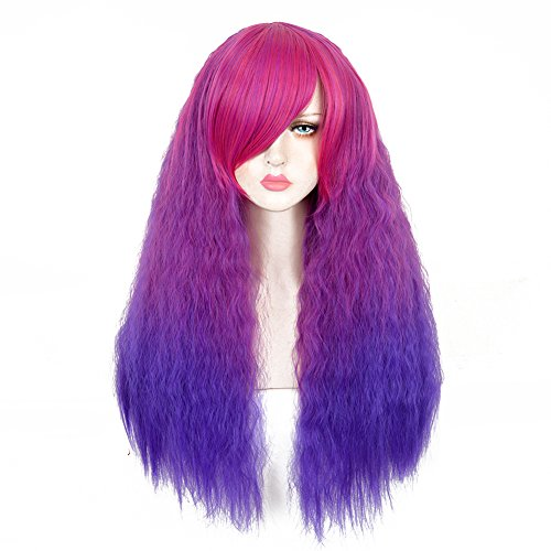 CosHouse Harajuku Fluffy Wigs with Small Curls Glamous Long Wigs for Cosplay Halloween 30 inches