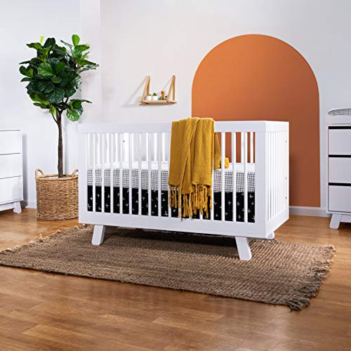 51JWAMKFWqL - Babyletto Hudson 3-in-1 Convertible Crib With Toddler Bed Conversion Kit In White, Greenguard Gold Certified