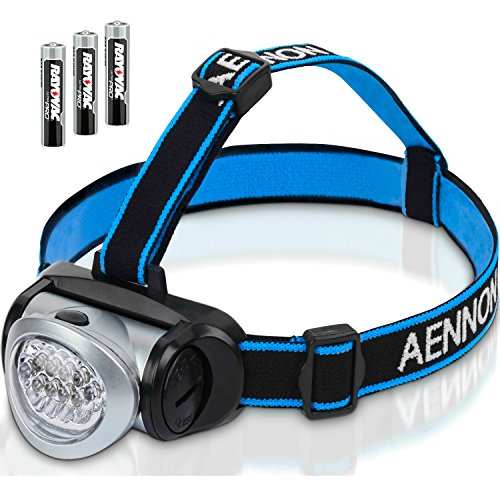 Aennon Headlamp Flashlight with Red LED Light