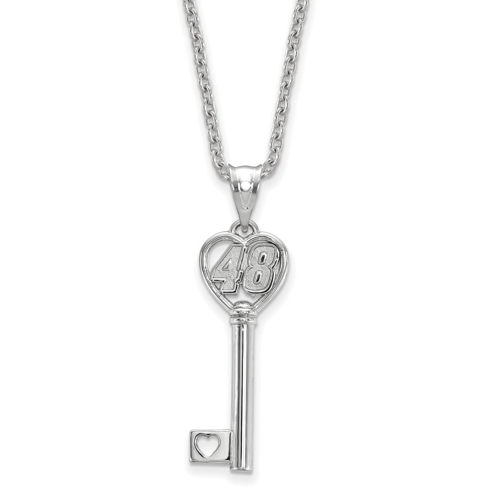 10mm x 18mm Sonia Jewels SS Heart Key 1 Small with Driver 48 with 18SILVER Chain
