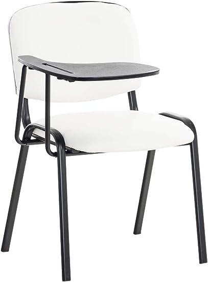 Clp Sedia Conferenza Ken Con Tavolino Richiudibile I Sedia Imbottita Per Riunioni In Similpelle Colore Bianco Amazon It Casa E Cucina