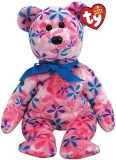 Ty Beanie Babies Funky - Flower Print Bear (Pink)