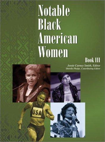 Books : Notable Black American Women: Book III