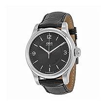 Oris Classic Date Black Dial Black Leather Mens Watch 733-7594-4034LS