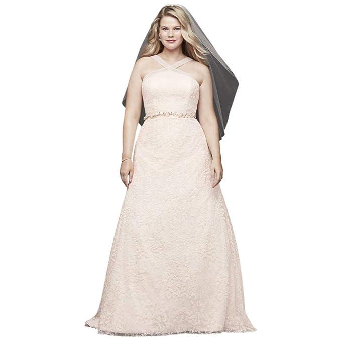 Amazon.com: Davids 9WG3928 Vestido de novia bordado de ...
