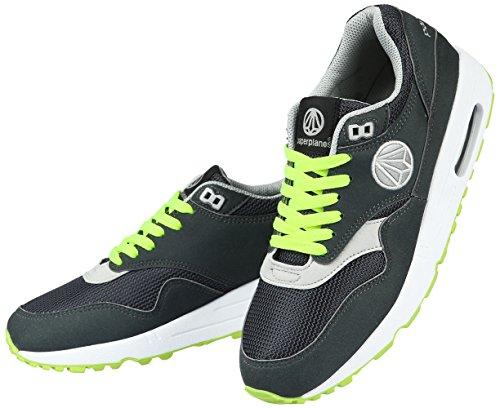 Paperplanes 1317 Unisex-Luftpolster-Sneakers Essential Running, Grau - Dark Gray Green - Größe: 42