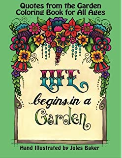 Quotes From The Garden Coloring Book For Adults And All Ages Creative