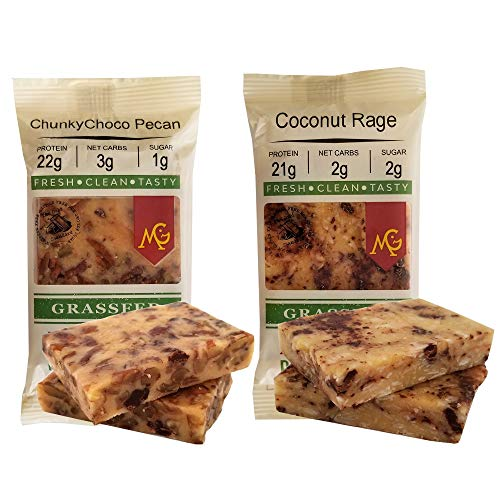 - PALEO Friendly - PRIMAL Protein Bars by MariGold Bars (6 Chunky Pecan, 6 Coconut Rage)