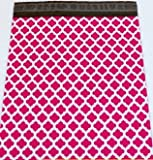 100 12x15 Hot Pink Quatrefoil Poly Mailers