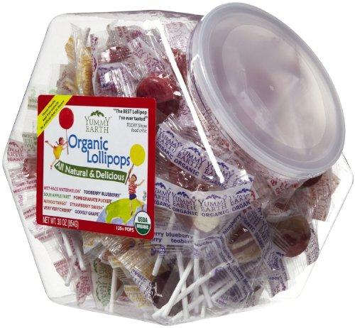 Bins Organic Lollipops (Yummy Earth Counter Bins Assorted Flavors 125+ Count Organic Lollipops)