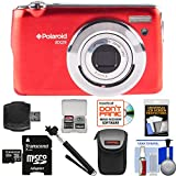 Polaroid iEX29 18MP 10x Digital Camera (Red) with 32GB Card + Case + Selfie Stick + Kit