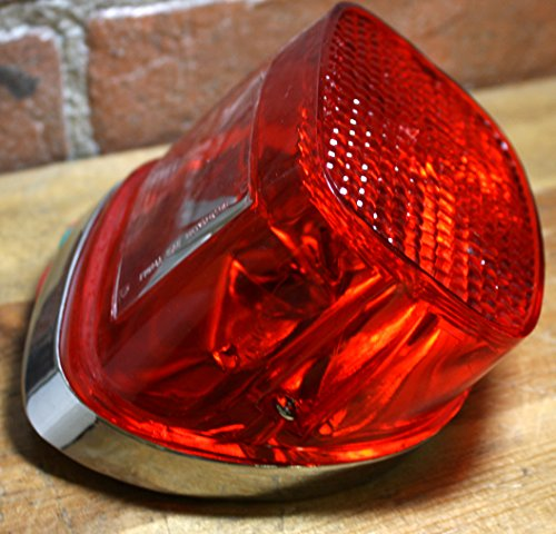 Chromed Tail Light Assembly. Replaces Harley Davidson 68008-73A Big Twin 1973 + ()