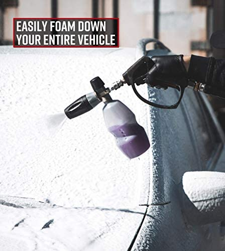 Foam Lance Only Adams x MTM Premium Foam Cannon Professional Foam Lance PF22 Premium Professional Grade Snow Foam Cannon Creates Thick Suds for Safe Washing Attaches to Pressure Washer
