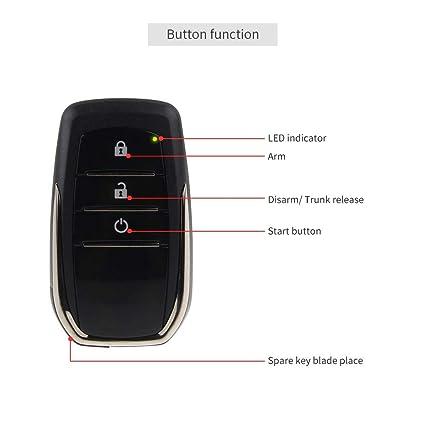 Amazon.com: EASYGUARD PKE Sistema de alarma de coche con ...