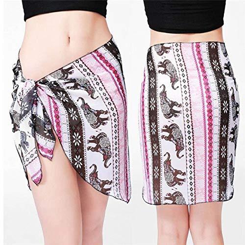 CUSHY Womail Women Beach Cover Up Chiffon Kirt Bikini wimwear Coverup Wrap Kirt wimuit aida de Praia #A40: hot Pink