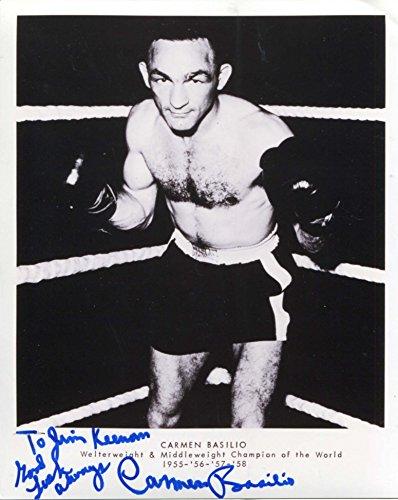 Basilio Carmen Boxer (Carmen Basilio BOXER autograph, signed photo)