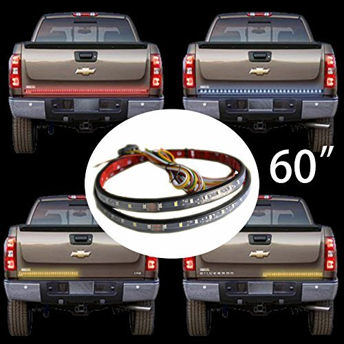 Kingshowstar New 60' Auto Tailgate LED Light Bar Red Yellow White Reverse Stop Running Brake Turn Signal Lightwith 60pcs Red 60pcYellow &30pcs White LED, 2 Year Limited Warranty