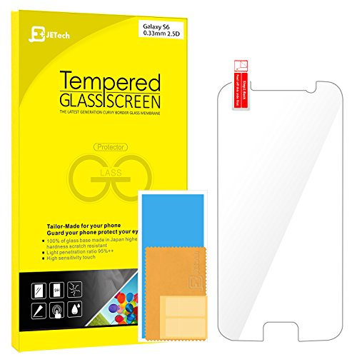 S6 Screen Protector, JETech Premium Tempered Glass Screen Pr