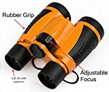 Binoculars Set For Kids - Binoculars With Magnification, Hand Crank Flashlight, Whistle, Magnifying Glass, and Carry Bag