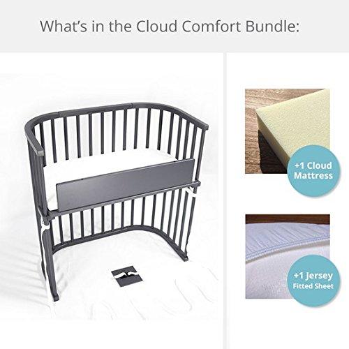 babybay Bedside Sleeper Cloud Comfort Bundle in Modernist (Slate Gray) by babybay