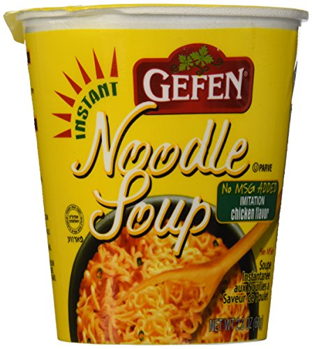 Gefen Instant Noodle Soup, Chicken Flavored Soup Cup 2.3oz (12 pack)