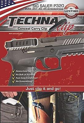 Techna Clip Gun Belt Clip - Sig Sauer P320 (Ambidextrous)