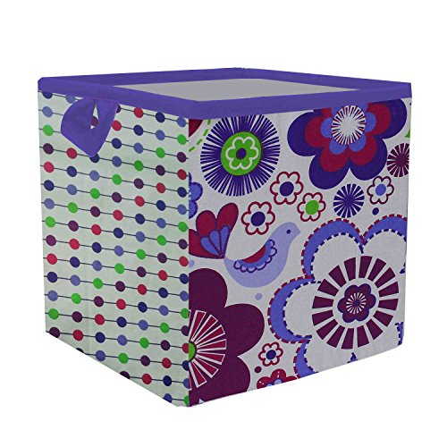 Bacati-Botanical-Storage-Box-Purple-Small