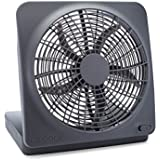 O2COOL 10-Inch Portable Desktop Air Circulation Battery Fan - 2 Speed - Compact Folding & Tilt Design - With AC Adapter