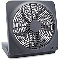 O2COOL 10' Battery Powered Portable Fan with AC Adapter