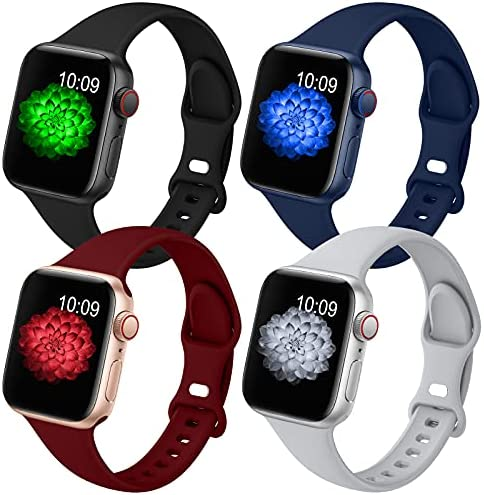 GeekSpark 4 Pack Slim Band Compatible with Apple...