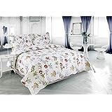 Light Floral Pinsonic Bedding 3 Piece Bedspread Quilt Set - King Size
