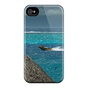 High Quality Shock Absorbing Case For Iphone 4/4s-tahiti Stormy
