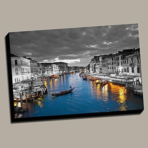 Venice Italy Photos - Wide Canal in Venice Color Splash 24