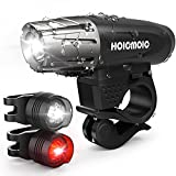 Image of Hoicmoic USB Rechargeable Bike Lights, Bright Waterproof LED Bicycle Front and Rear Lights for Kids Men Women Safe Cycling, 1 Headlight, 1 Red Taillight and 1 White Bicycle Light for Versatile Usages