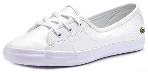 7cb08f7d616d2 Lacoste Women s Ziane Chunky BL 1 CFA Lace Up Trainer White White   Amazon.co.uk  Shoes   Bags