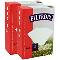 Filtropa White Coffee Filters #2 - 2 pack (200 filters total)