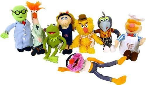 The Muppet Show in Stage Box with 8 Stuffed Muppets (Muppets Dolls)