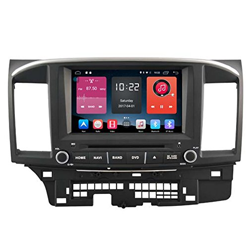 Autosion 8 inch In Dash Android 6.0 Car DVD Player Radio Head Unit GPS Navigation Stereo Gray for Mitsubishi Lancer 2007 - 2017 Support Bluetooth SD USB Radio OBD WIFI DVR 1080P by Autosion