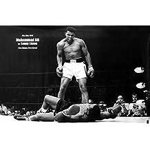 Muhammad Ali (Vs. Sonny Liston) Sports Poster Print - 24x36