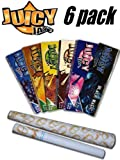 6 Pack Variety Juicy Jay Flavored Rolling Papers