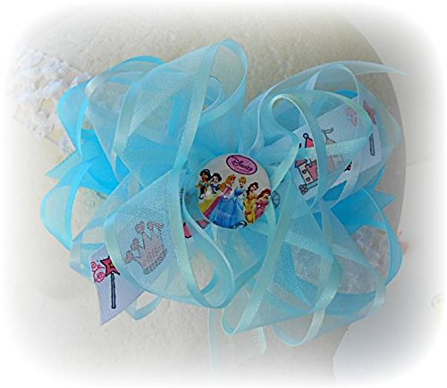 [PRINCESS GIRLS HAIR BOW INFANT TODDLER HAIRBOWS BIRTHDAYS CROWN CASTLE WANG] (Castle Boutique Halloween Costumes)