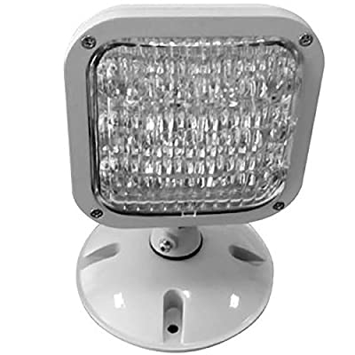 Exitronix MLED1-G-WP LED Emergency Light Adjustable Heads Gray Wet Listed