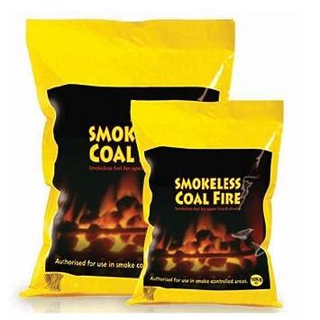 Carbón para fuego sin humo, para estufas, chimeneas abiertas y fogatas, bolsa de 10 kg., 10 kg: Amazon.es: Hogar
