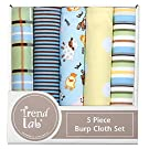 Trend Lab 5 Piece Burp Cloth Bundle Box Set, Baby Barnyard by Trend Lab